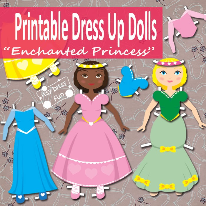 Princess Paper Doll Dress Up Free Printable Itsybitsyfun Com