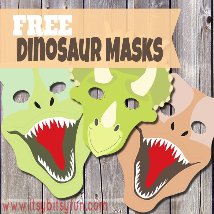 printable dinosaur masks templates free