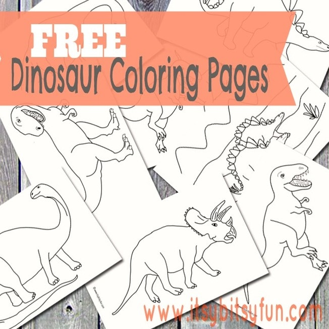 photograph regarding Dinosaur Coloring Pages Printable named Dinosaur Coloring Internet pages - Itsy Bitsy Entertaining