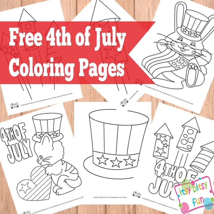 4th Of July Coloring Pages - Itsybitsyfun.com