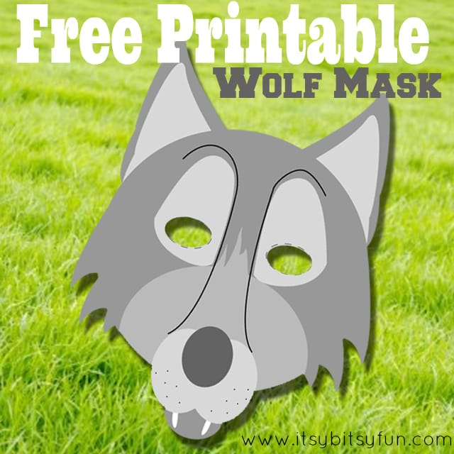 image about Free Printable Masks Templates named Cost-free Printable Wolf Mask Template - Itsy Bitsy Exciting
