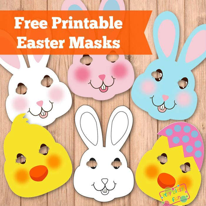 easter chick templates free - easter masks bunny rabbit and chick template itsy