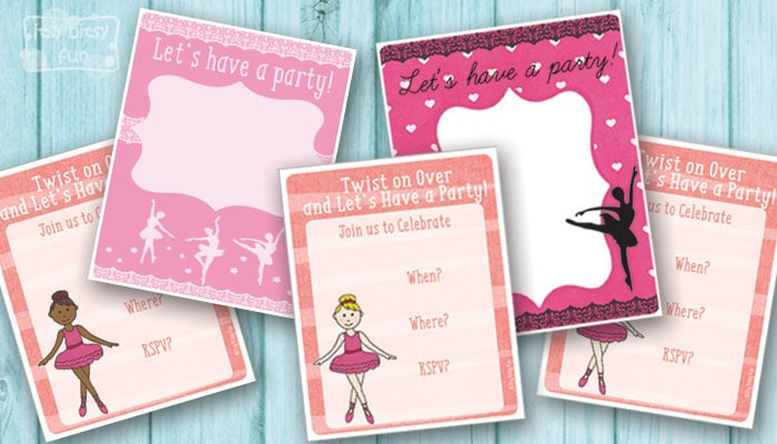 Free printable birthday party invitations for girls itsy bitsy fun ballerina party invitations filmwisefo