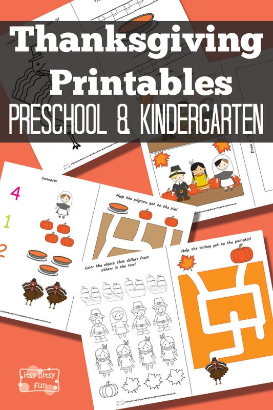 Thanksgiving Activity Sheets - Preschool Worksheets for Kids
