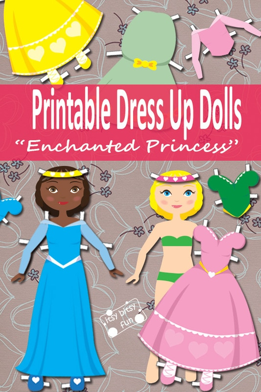 photograph regarding Paper Dolls to Printable named Princess Paper Doll Gown Up Totally free Printable - Itsy Bitsy Pleasurable