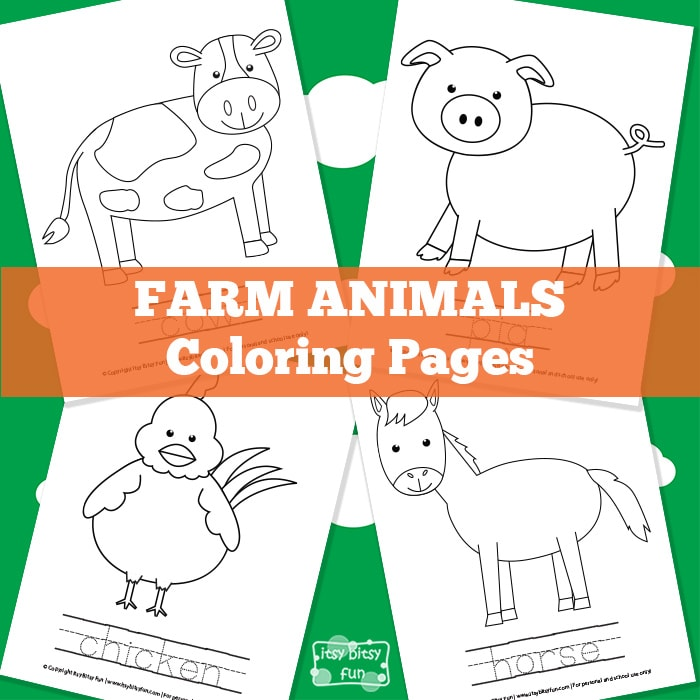 Farm Animal Coloring Pages Itsybitsyfun Com