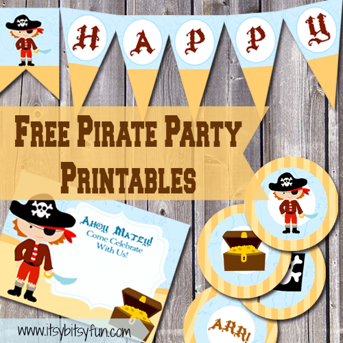 graphic relating to Pirates Printable Schedule named Free of charge Printable Pirate Celebration Products - Itsy Bitsy Entertaining