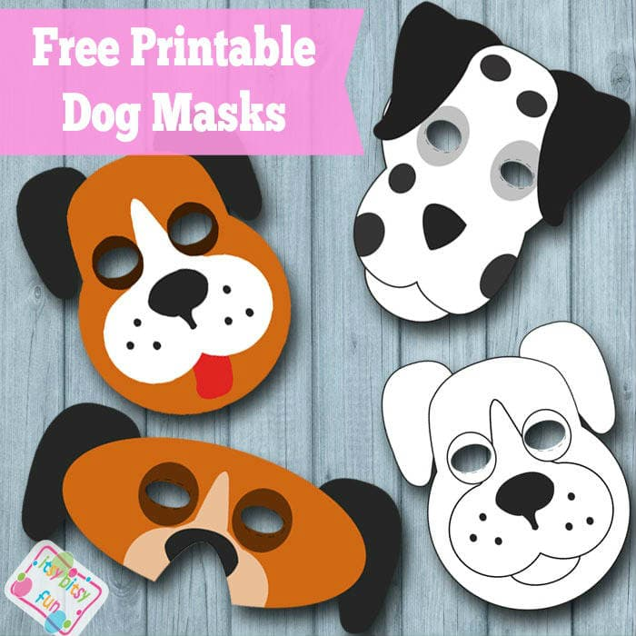 Free Printable Dog Mask & Template
