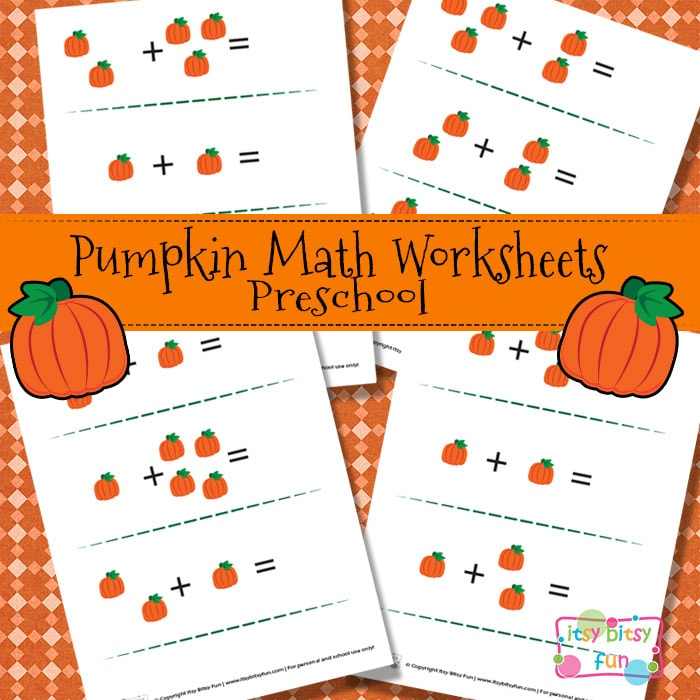 Pumpkin Math Worksheets for Kids