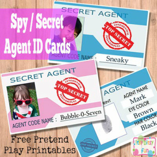 Secret Agent / Spy ID Card Template for Kids