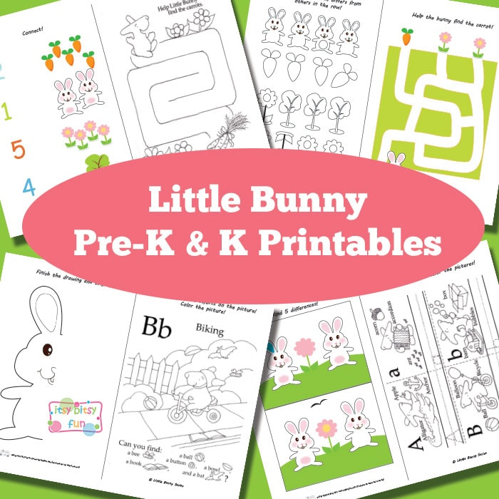 Free Printable Bunny Activity Sheets