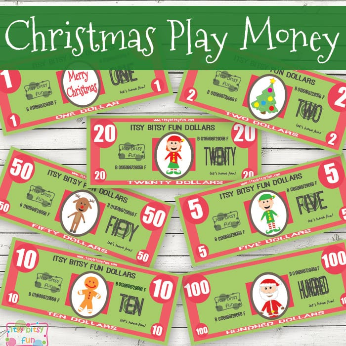Christmas Play Money for Kids