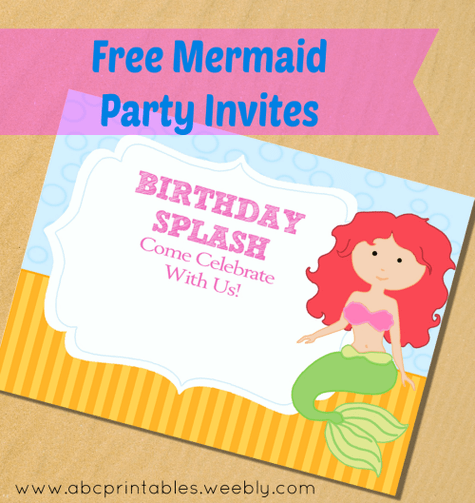 Free Printable Little Mermaid Party Invitations Itsy Bitsy Fun