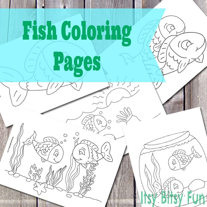 Printable Fish Coloring Pages (free)