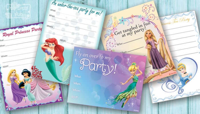 Free Printable Birthday Party Invitations for Girls Itsy Bitsy Fun – Disney Princess Printable Birthday Cards