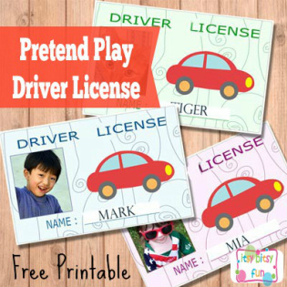 Kids Pretend Play Driver License