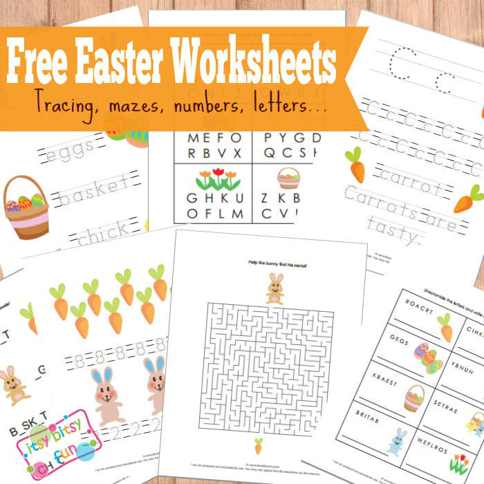 Free Easter Worksheets for Kids