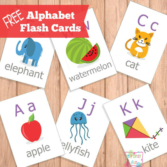 picture regarding Printable Letter Cards identified as Printable Alphabet Flash Playing cards - ABC - Itsy Bitsy Enjoyable