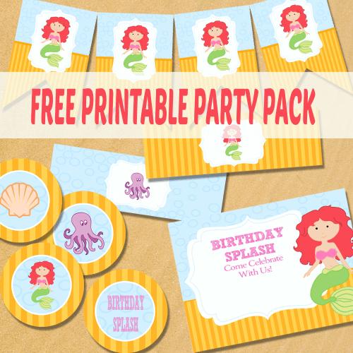 Mermaid Party Supplies Free Printable