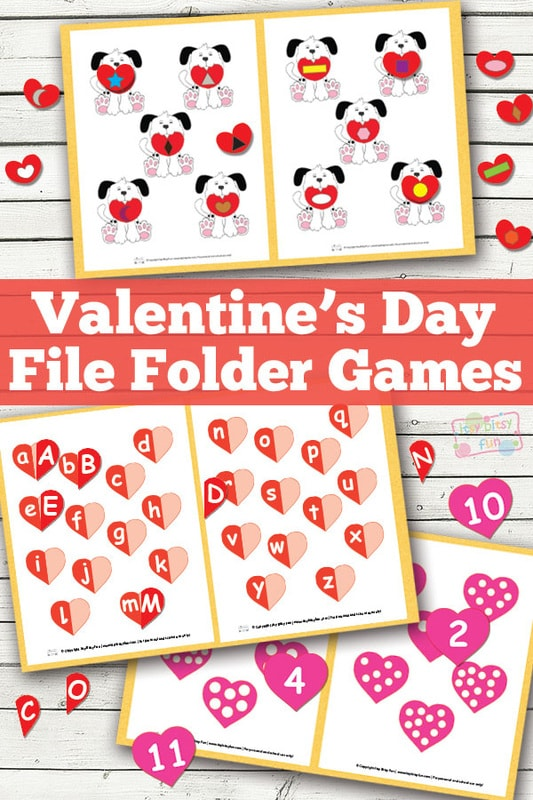 valentines day file folder game - Valentines Day Game
