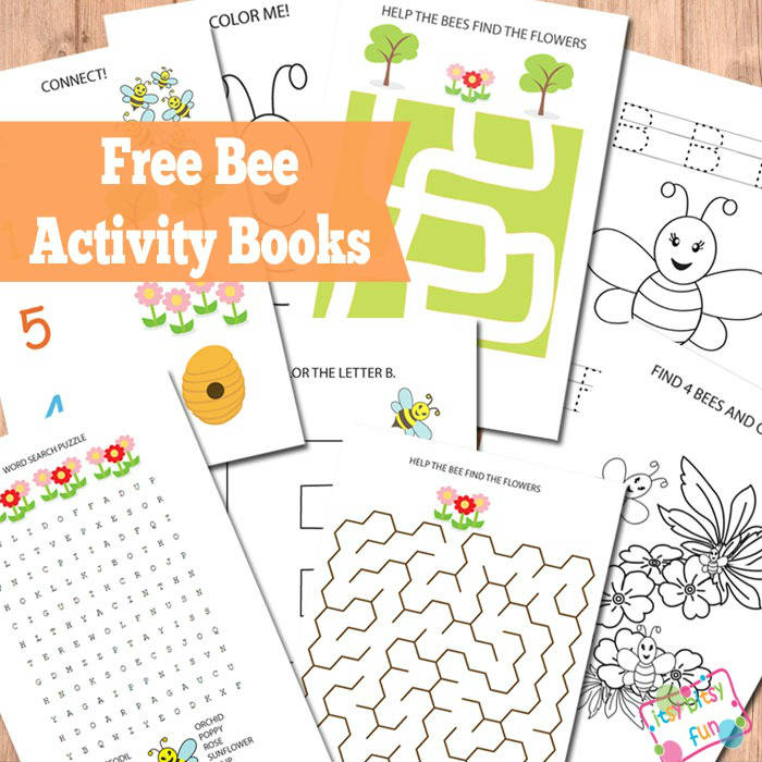 picture about Printable Activity Books referred to as Bee Recreation Publications - Itsy Bitsy Entertaining