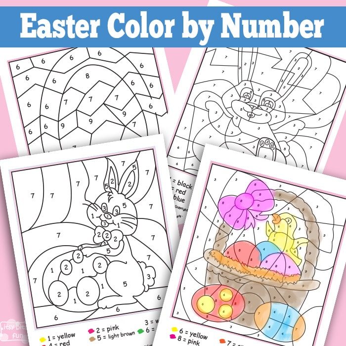 photograph regarding Easter Color by Number Printable referred to as Easter Shade By way of Figures Worksheets - Itsy Bitsy Entertaining
