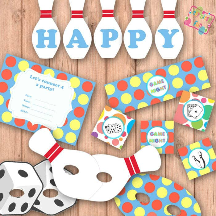 Family Game Night Party Supplies Free Printables