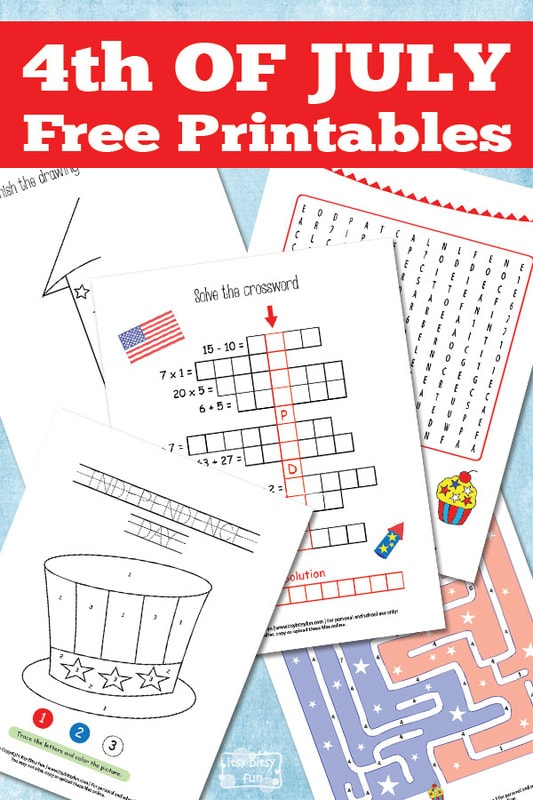 Free 4th of July Free Printables
