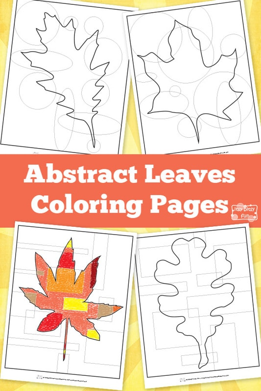 Abstract Leaves Coloring Pages Itsy Bitsy Fun