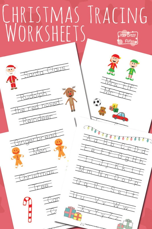 Free Printable Christmas Tracing Worksheets