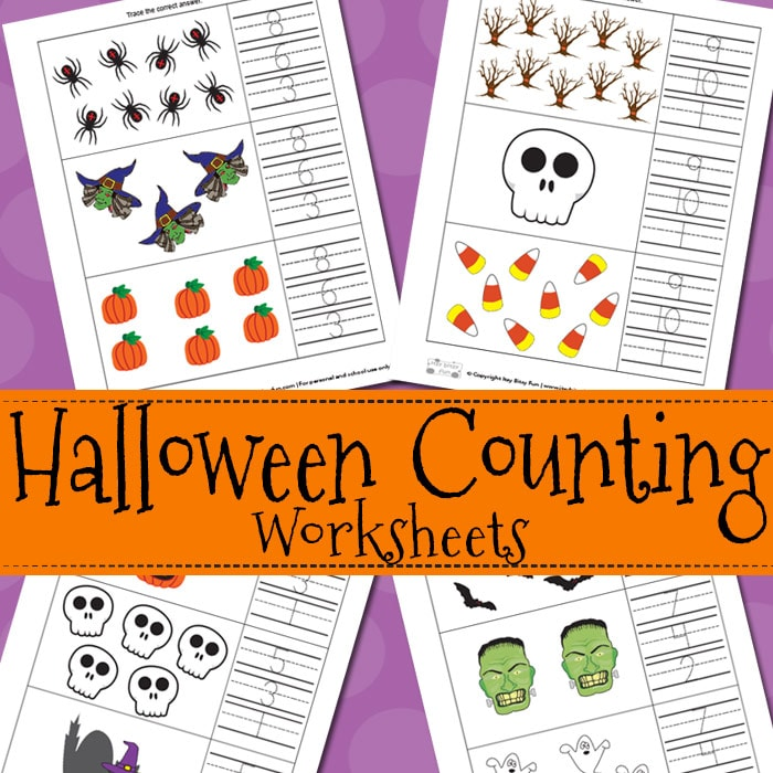 Halloween Counting Worksheets Itsy Bitsy Fun – Fun Math Worksheets for Kids