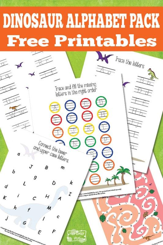 Free Pritnable Dinosaur Alphabet Worksheets