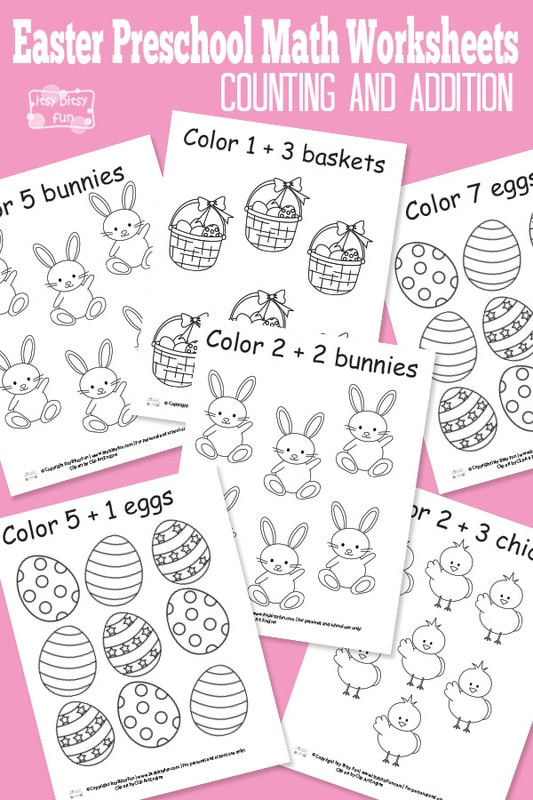 Free Printables Easter Preschool Math Worksheets