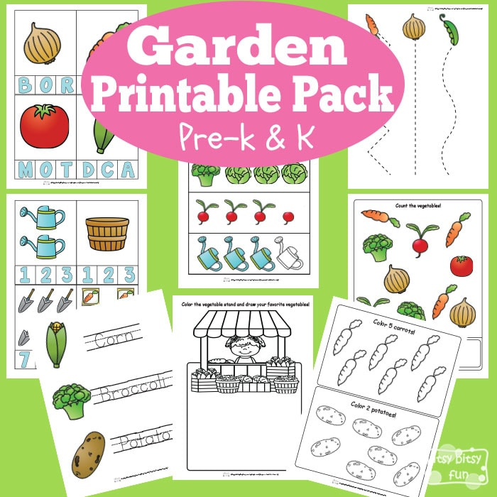 Garden Worksheets for Kindergarten and Preschool