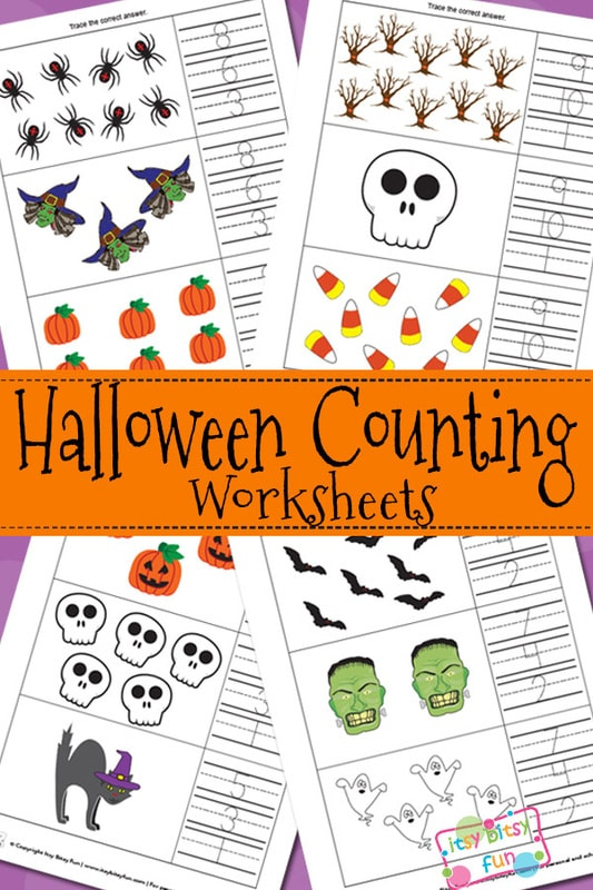 Halloween Counting Worksheets Itsy Bitsy Fun