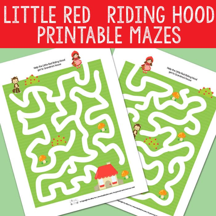 Little Red Riding Hood Mazes