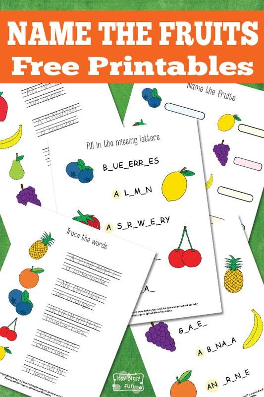 Name the Fruit Free Printable