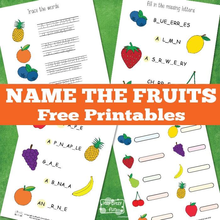 Name the Fruit Printable