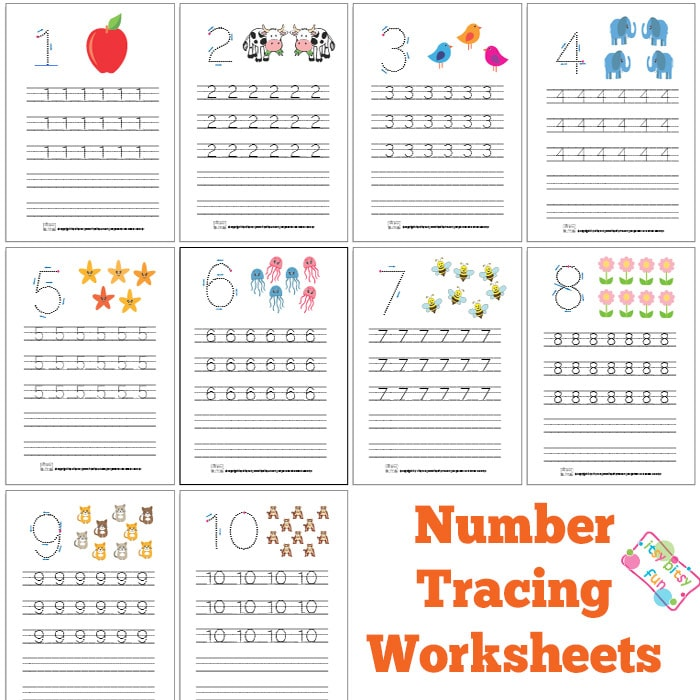 image about Printable Tracing Numbers identify Selection Tracing Worksheets Absolutely free Printable - Itsy Bitsy Entertaining