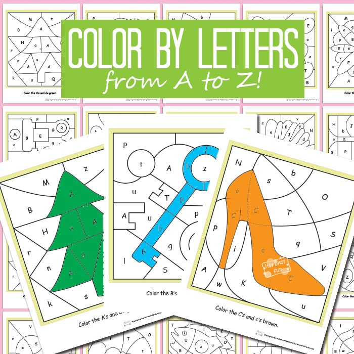 Color By Letters Alphabet Shapes Itsy Bitsy Fun