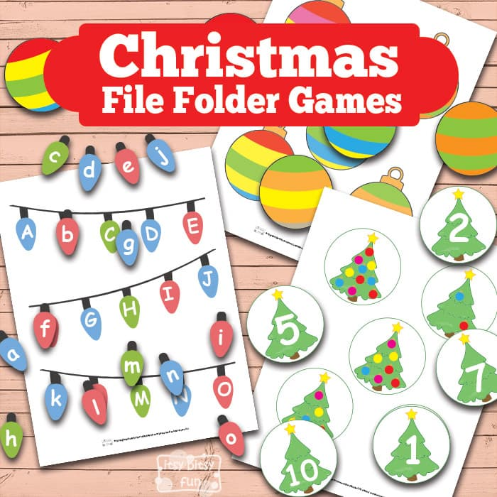 Printable Christmas File Folder Game