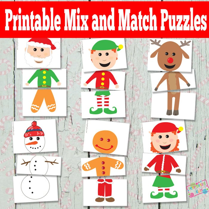 Printable Christmas Puzzles Busy Bag  Itsy Bitsy Fun