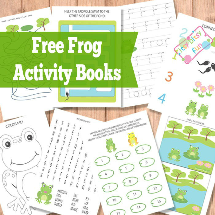 Printable Frog Activity Books for Kids