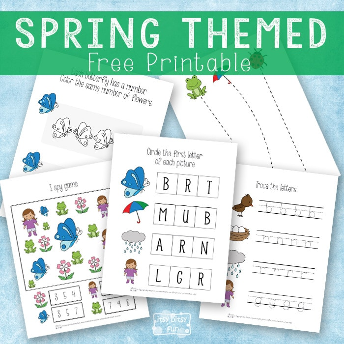 Spring themed printable pack