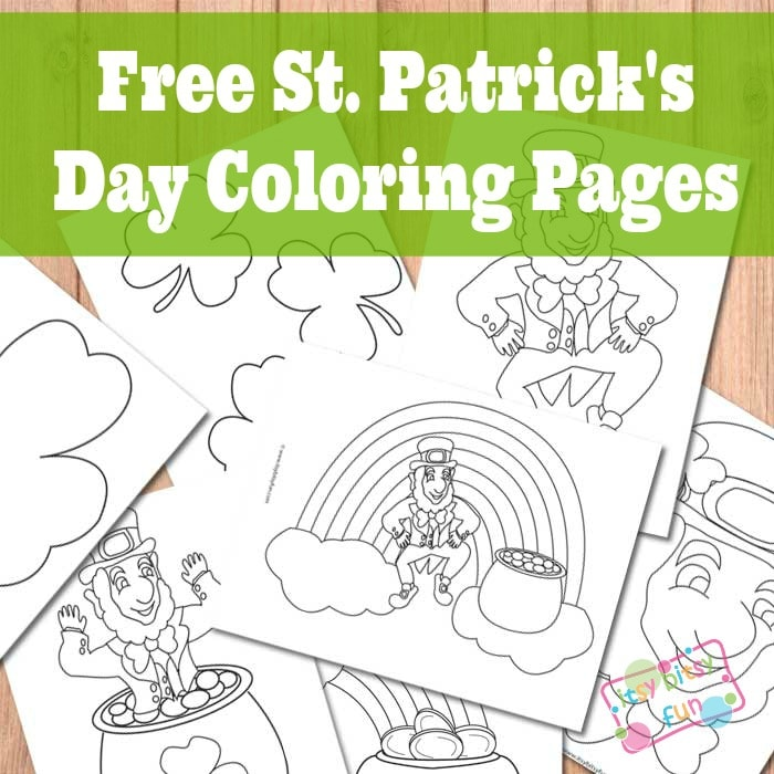 St. Patrick\'s Day Coloring Pages - Itsy Bitsy Fun