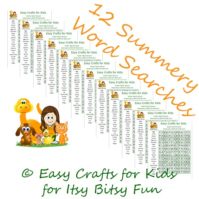 Free Summer Word Search Puzzles Itsy Bitsy Fun