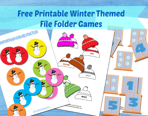 Winter File Folder Games for Kids
